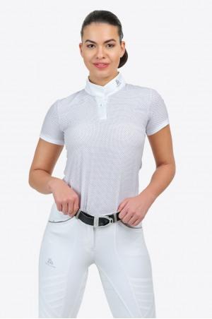 Riding Show Shirt PALAIS ROYAL - Short Sleeve, Equestrian Show Apparel