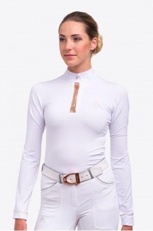 Блуза для выступлений Technical ROSE GOLD - длинный рукав, из технической ткани