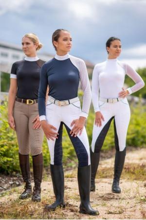 Riding Show Shirt MODERN DAME - Long Sleeve, Technical Equestrian Show Apparel