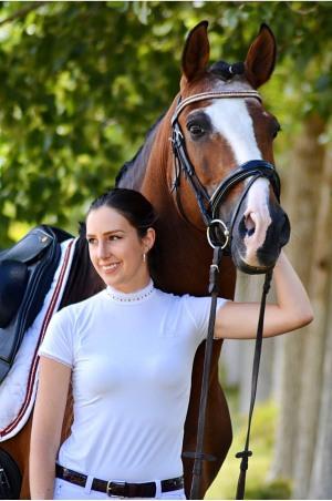 Riding Show Shirt CUSTOMIZED CRYSTAL - Short Sleeve, Technical Equestrian Show Apparel