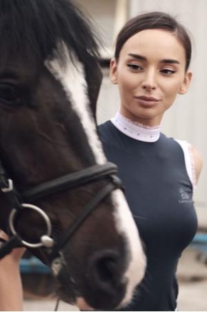 Riding Show Shirt CUSTOMIZED CRYSTAL - Sleeveless, Technical Equestrian Show Apparel