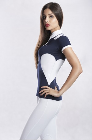 CHARM Short Sleeve Full-Zip-Up Show Shirt