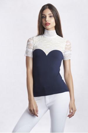 LUXURIOUS LACE Short Sleeve Lace Show Shirt