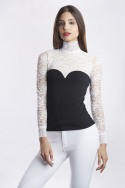 LUXURIOUS LACE Long Sleeve Lace Show Shirt