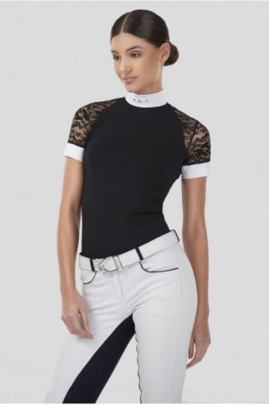 LACE ATTRACTION Short Sleeve Show Shirt