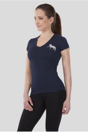 171-106110 DREAM HORSE Short Sleeve V Neck Shape Top