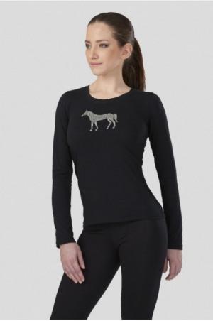 171-107102 GLEAM LONG Sleeve Slim Fit Top