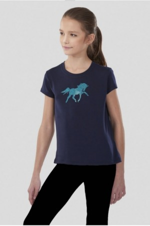 PLAYFUL PONY Short Sleeve Loose Fit Top