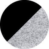 black/black melange