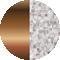 grey melange/rose gold