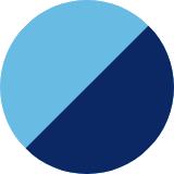 hellblau/dunkelblau
